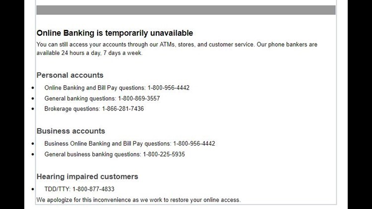 Wells Fargo experiencing issues with online banking, mobile