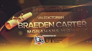 Braeden Carter - Valedictorian of Monahans High School
