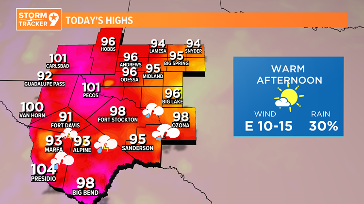 We're tracking another warm and stormy Monday ahead.