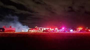 Empty mobile homes catch fire in southeast Midland