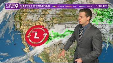 Rain continues tonight with a slight snow chance by morning