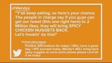 What's Up West Texas: Wendy's Brings Back Spicy Chicken Nuggets