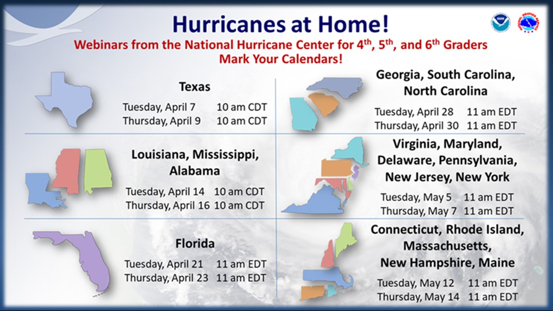 National Hurricane Center to hold Hurricanes at Home webinars