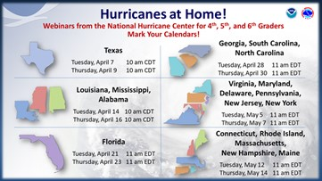 National Hurricane Center to hold Hurricanes at Home webinars