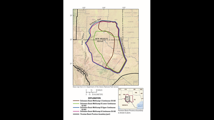 Texas and New Mexico declared largest continuous oil resource potential ever in assessment by USGS