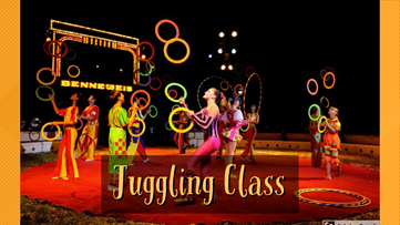 Learn how to juggle in online juggling class