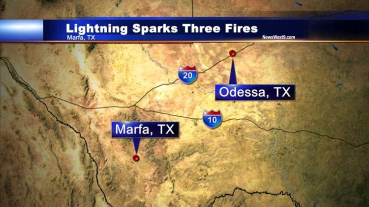 UPDATE: Lightning Sparks Three Grassfires in Marfa