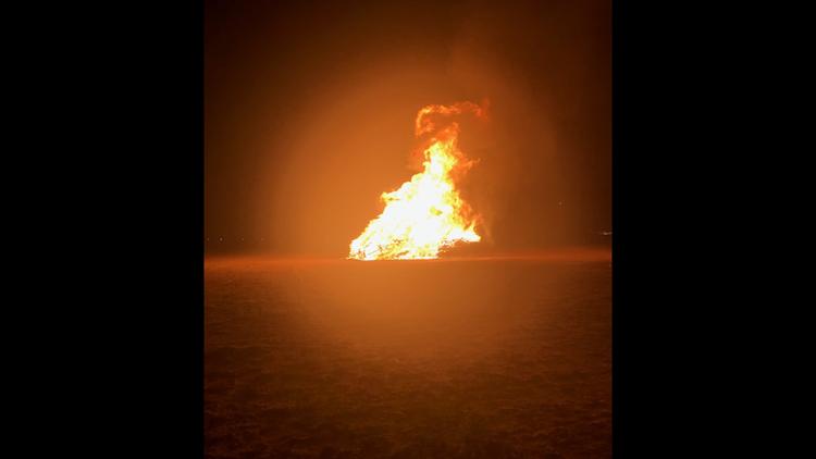UT Permian Basin bonfire