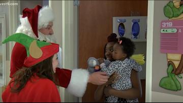 Mayor Turner as Santa Claus brings Christmas joy to Odessa Regional Medical Center