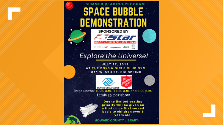 Space Bubble Planetarium visits Big Spring | newswest9 com