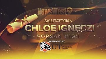 Chloe Igneczi - Salutatorian from Forsan High
