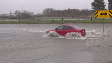 Drivers face tough conditions following rainfall