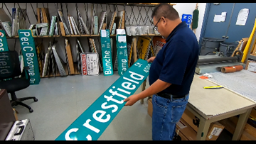 Midland man makes thousands of street signs each year