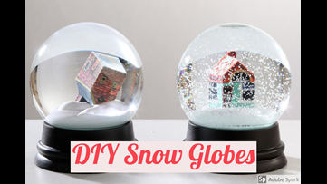 Have fun in your downtime by making your own snow globe