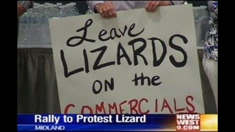Rally Held to Protest Dunes Sagebrush Lizard