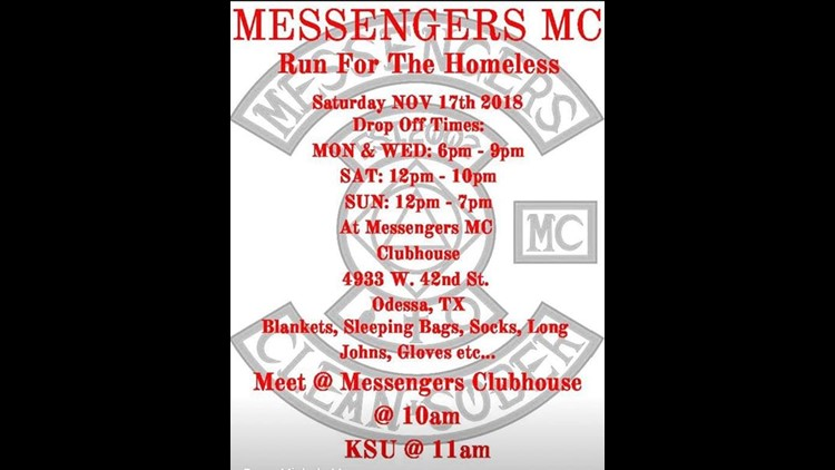 Messenger Motorcycle Clubhouse hosts Run for the Homeless, clothing drive