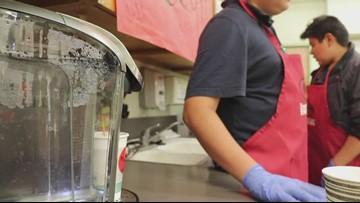 Goddard students brew coffee for their teachers