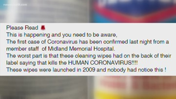 VERIFY: Is there a confirmed case of Coronavirus in Midland?