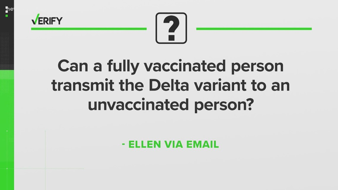 Can a fully vaccinated person transmit the Delta variant to an unvaccinated person? | Verify