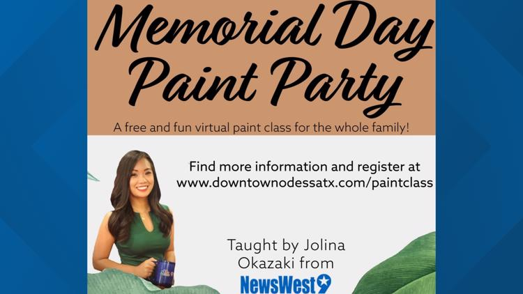 Downtown Odessa, Inc. holding free virtual painting class