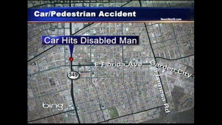 Man in Wheelchair Struck by Car in Midland