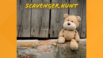 Organizing a neighborhood scavenger hunt for those at home