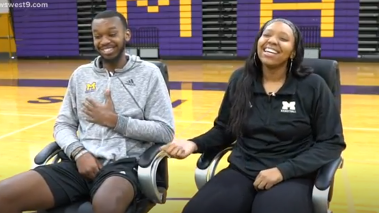 Twin basketball coaches teach students at Midland High School