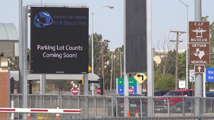 Midland International Airport's two new parking lots opening this summer