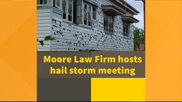 Moore Law Firm hosts hail storm town hall meetings