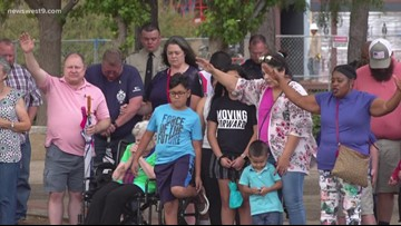 Prayer vigil held for mass shooting victims