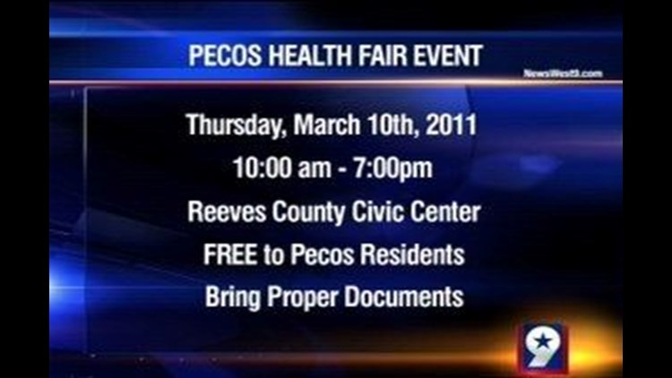 Health Fair Being Held on Thursday in Pecos