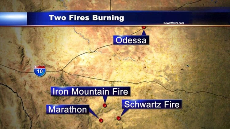 Two Fires Continue to Burn in Brewster County