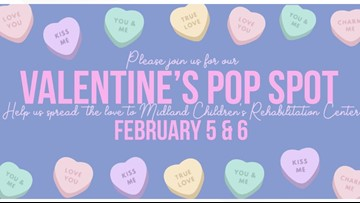 Valentine's Pop Spot Show supports Midland Children's Rehabilitation Center