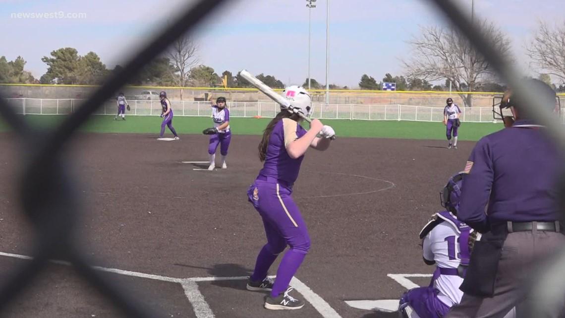 Pecos softball vs Crane