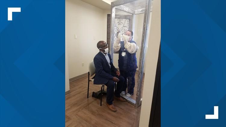 UTPB department of engineering donates plexiglass box to Odessa Regional Medical Center