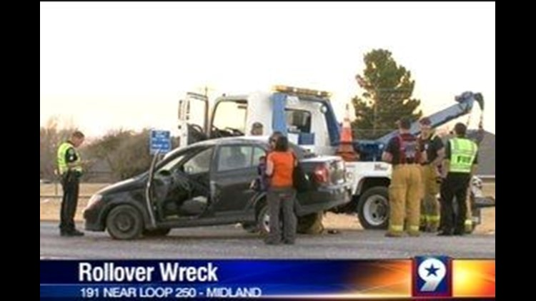 Rollover Accident on Highway 191 Leaves Behind a Big Mess