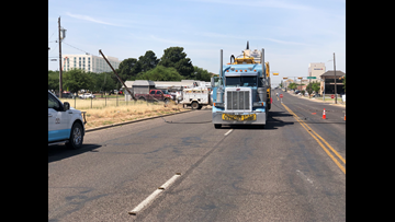 Oversized load takes out power lines in downtown Odessa
