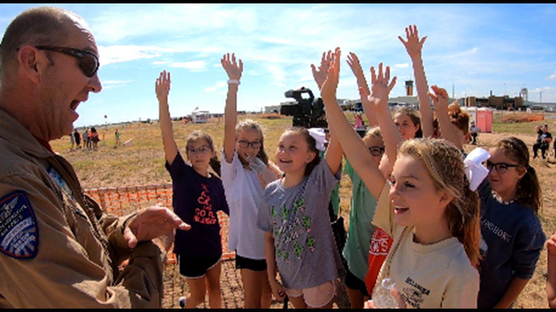 Education and aviation: 700 elementary students get preview of AIRSHO