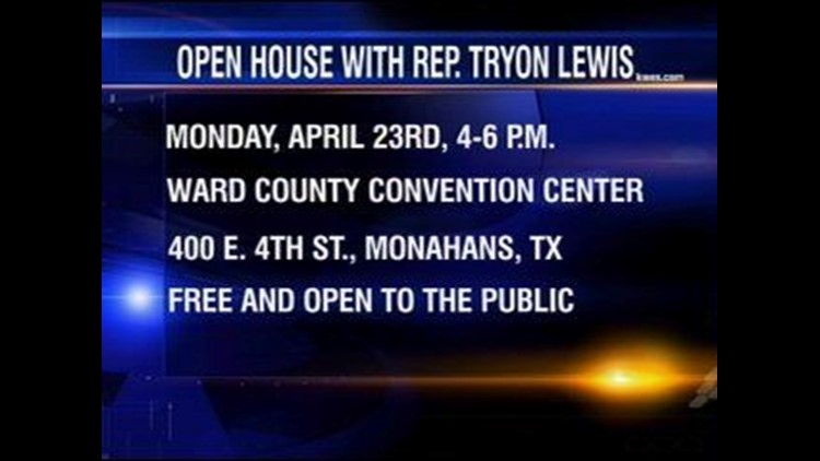 Texas Representative to Host Open House on Monday in Monahans