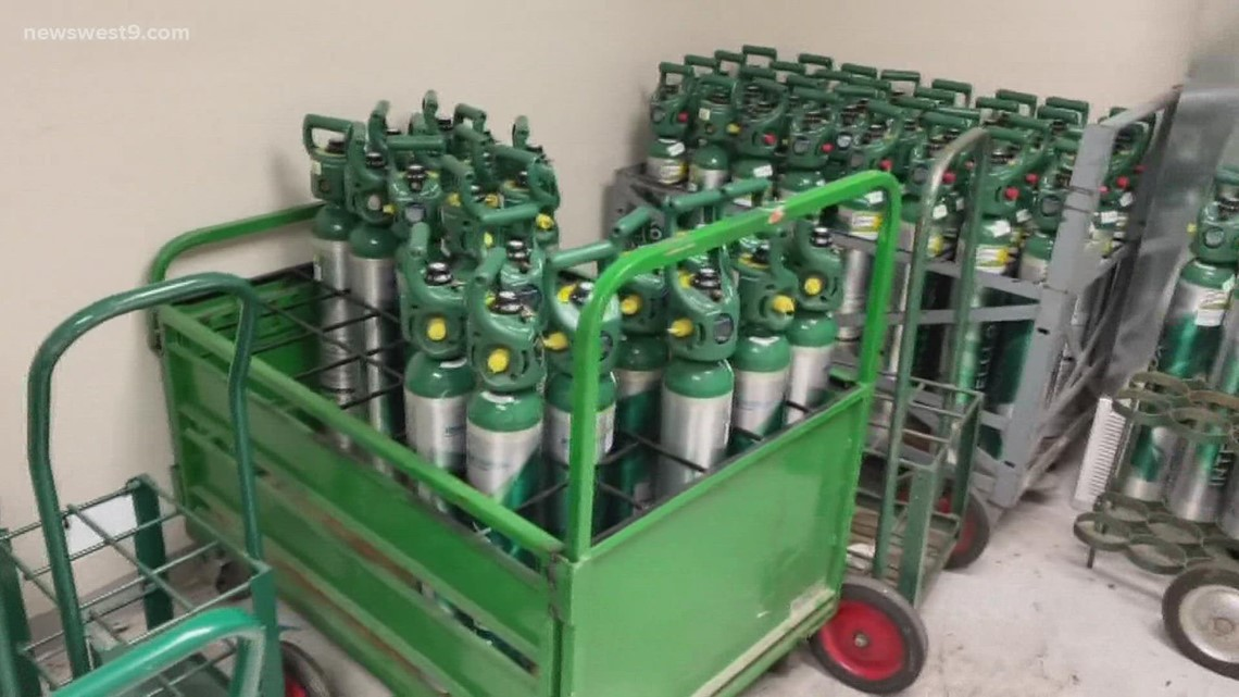 Oxygen tank, concentrator shortage means hospital guests staying longer than needed