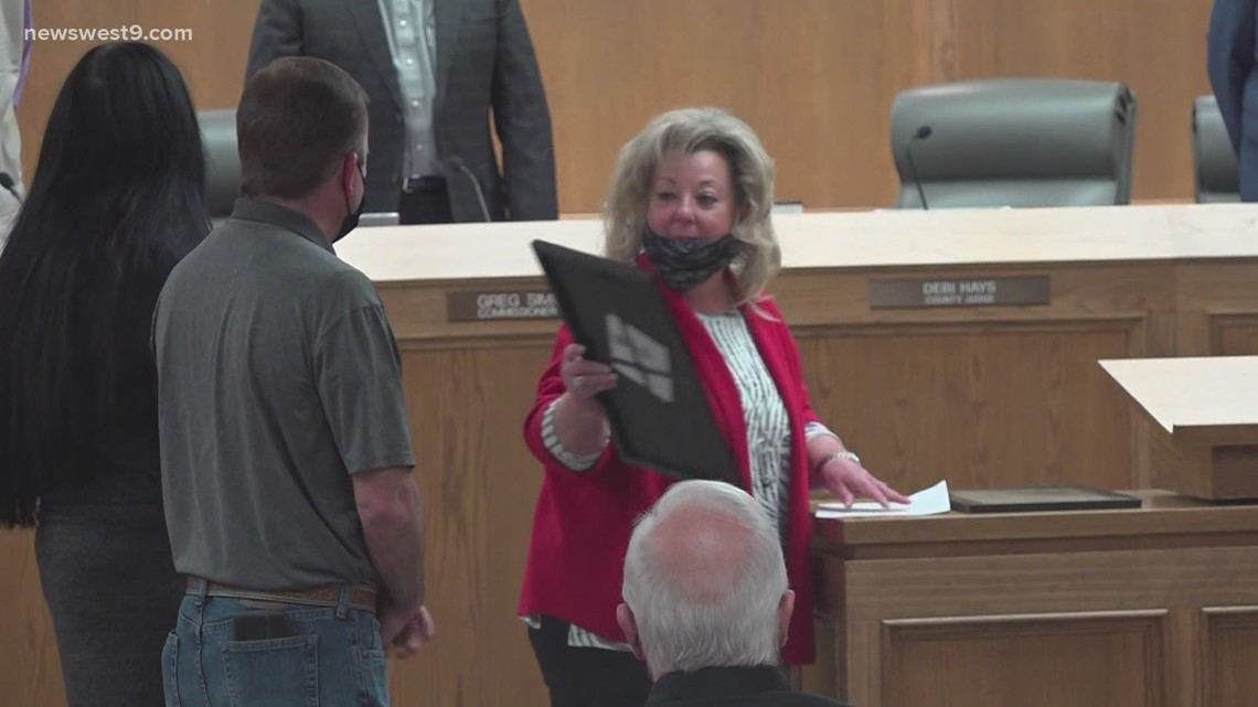 Ector County commissioners recognize community members for efforts during winter storm