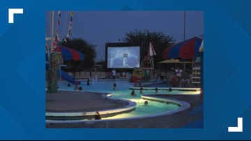 Sherwood Aquatic Center hosts community pool party and dive-in movie