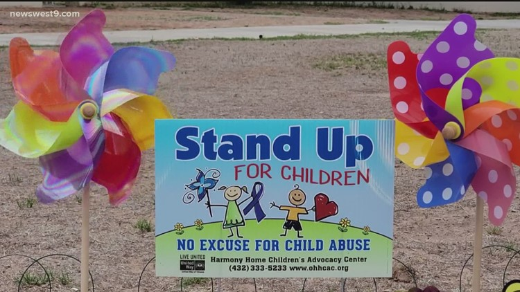 ECSO, Harmony Home encourage public support for child abuse prevention pinwheel garden