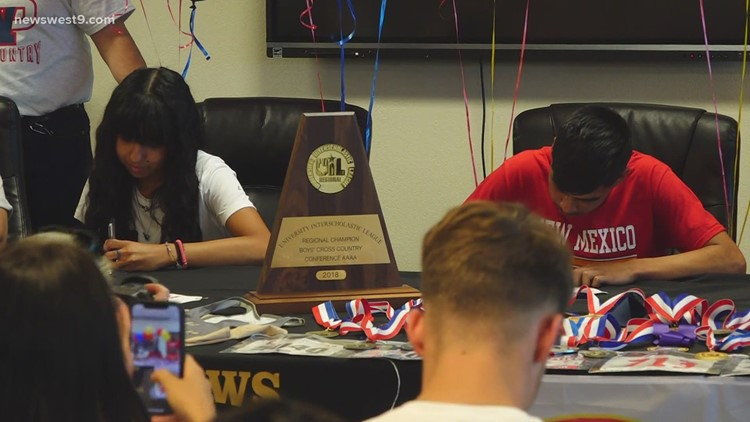 Andrews Cross Country athletes sign their letters of intent