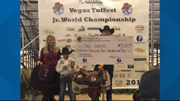 9-year-old Texan wins big at Las Vegas roping competition