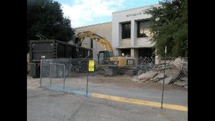Demolition of Old Monahans High School Begins