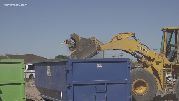 Ector County Environmental Enforcement Team cleaning up