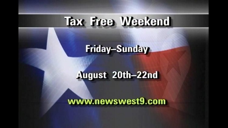 Tax Free Weekend Begins on Friday
