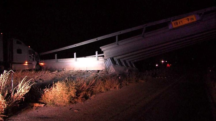 UPDATE: Bridge Collapses After 18-Wheeler Crashes Into Barrier on Interstate 20