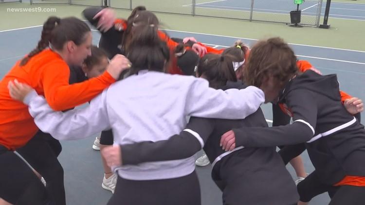 UTPB women's tennis vs Tarleton State